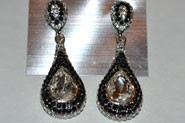Black and Crystal Clear Earrings