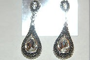 Black AB and Crystal Clear Earrings