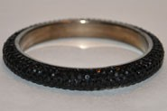 Sparkly Black Crystal Bangle