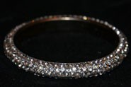 Sparkly Black AB Crystal Bangle