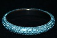 Sparkly Turquoise Blue Crystal Bangle