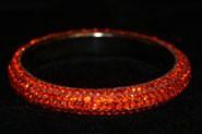 Sparkly Orange Crystal Bangle