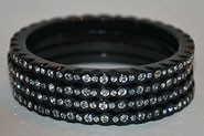 Black Bangle with crystals