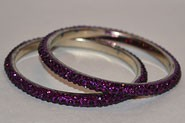 Sparkly Violet Crystal Bangle