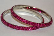Sparkly Fuscia Crystal Bangle