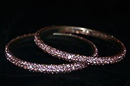 Sparkly Baby Pink Crystal Bangle