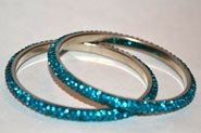Sparkly Rama Green Crystal Bangle