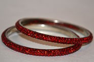 Sparkly Maroon Crystal Bangle