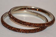 Sparkly Brown Crystal Bangle