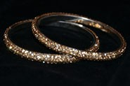 Sparkly Golden Topaz Crystal Bangle