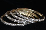 Sparkly Clear Crystal Bangle